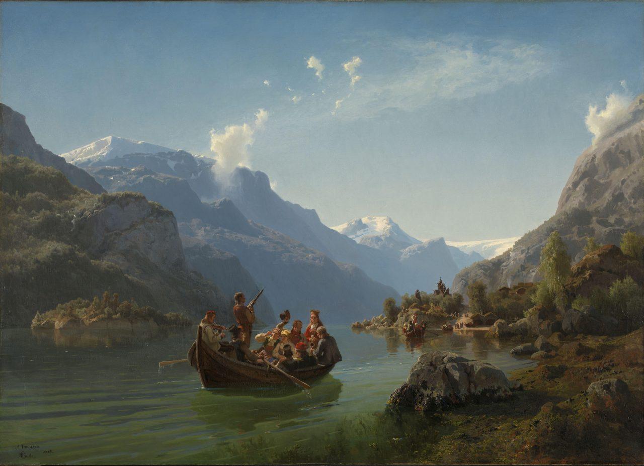 Brudeferd i Hardanger, malt av Adolph Tidemand og Hans Gude