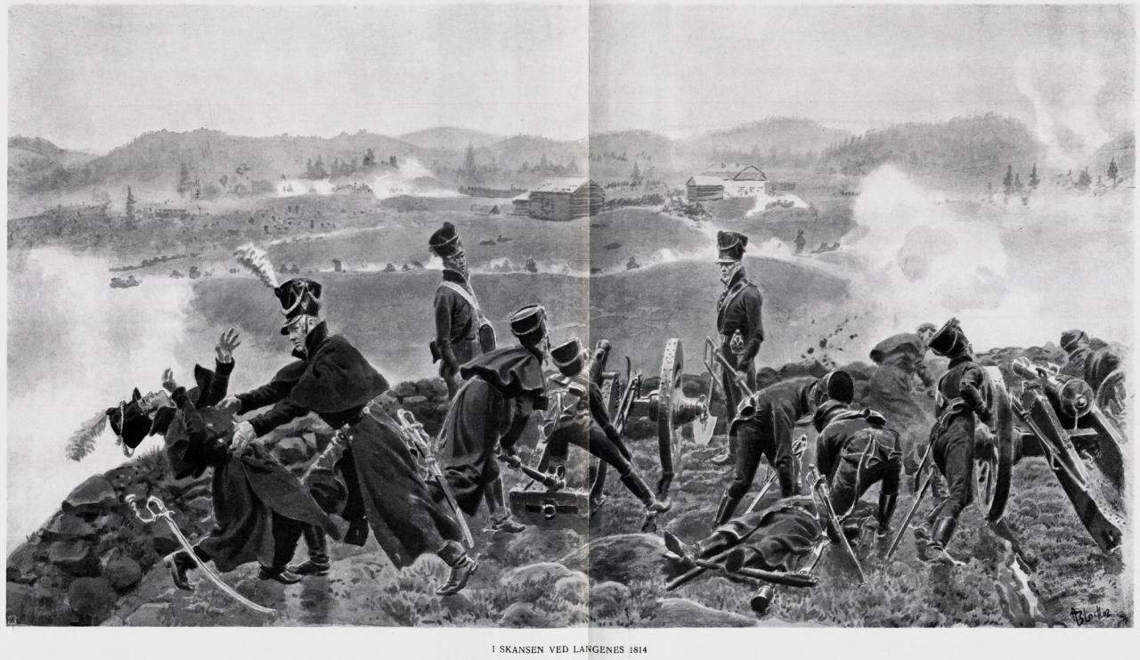 Slaget ved Langnes skanse i 1814.