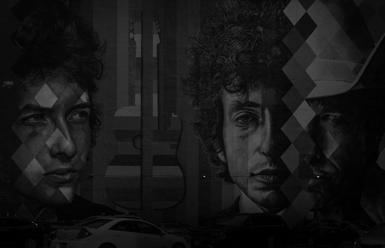 Mørk Bob Dylan-bakgrunn