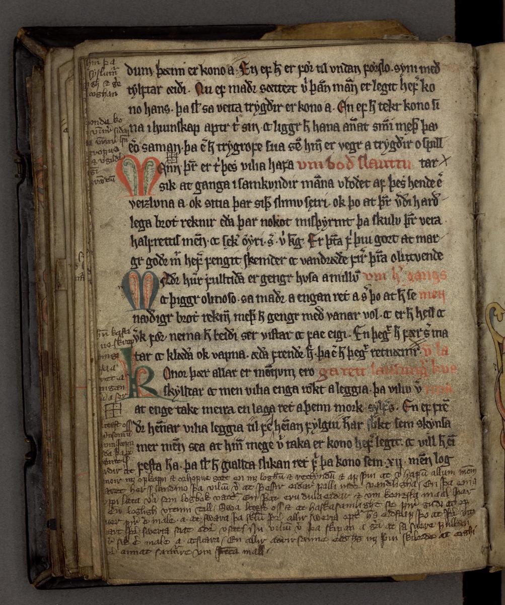 Bilde av et gammelt manuskript