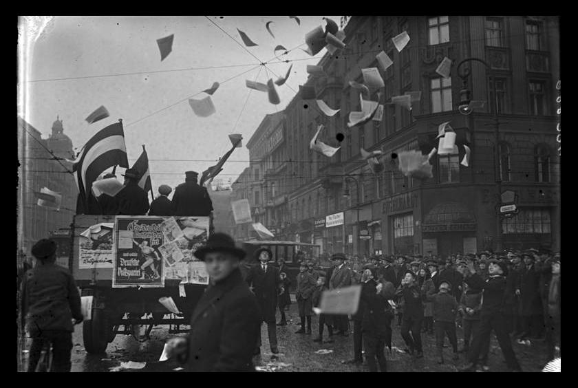 Tysk propaganda spres i gatene