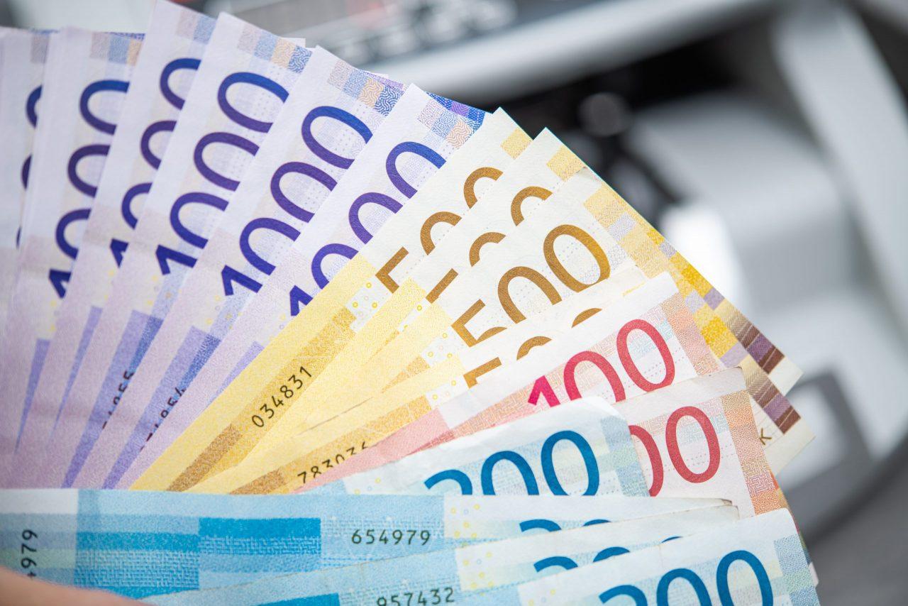 Norske sedler i ulike valører