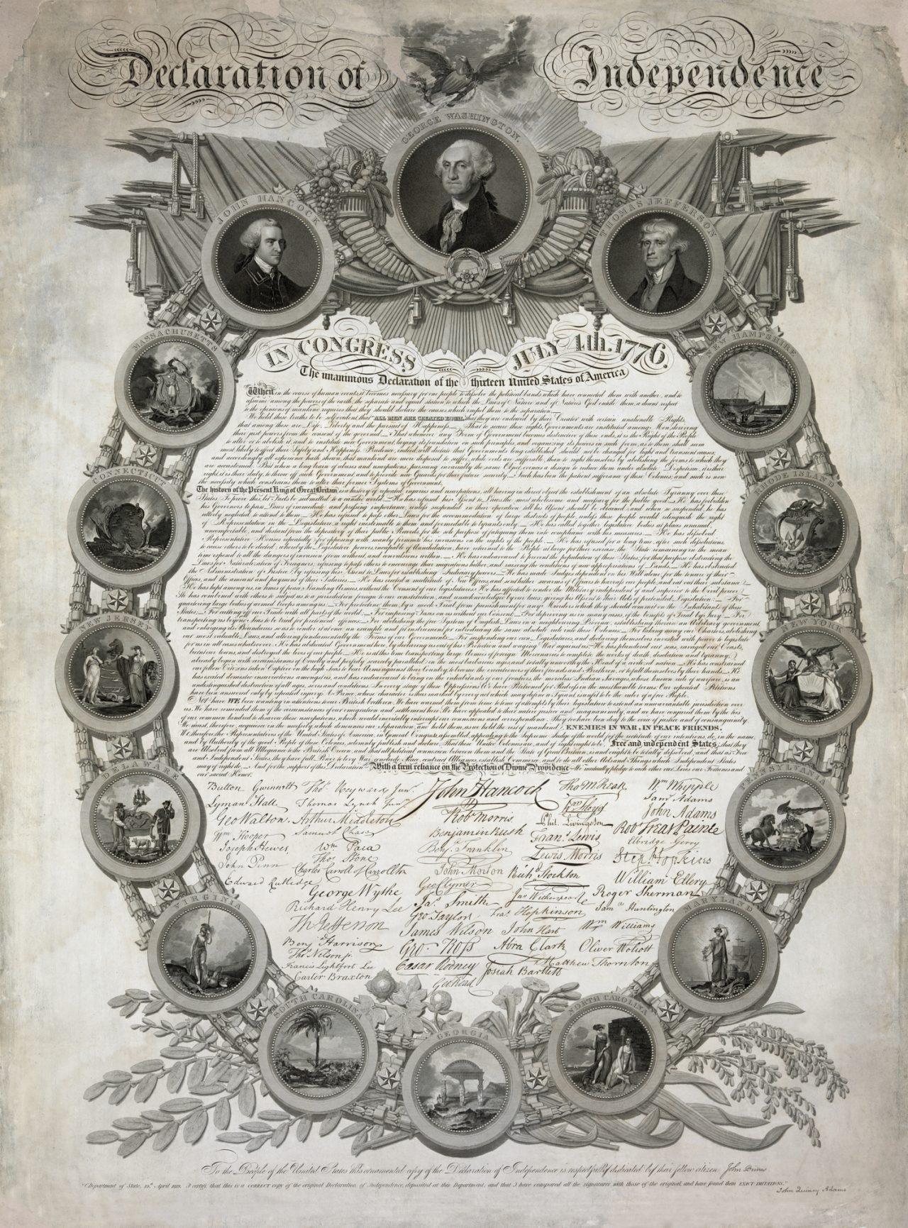 Uavhengighetserklæringen fra 1776