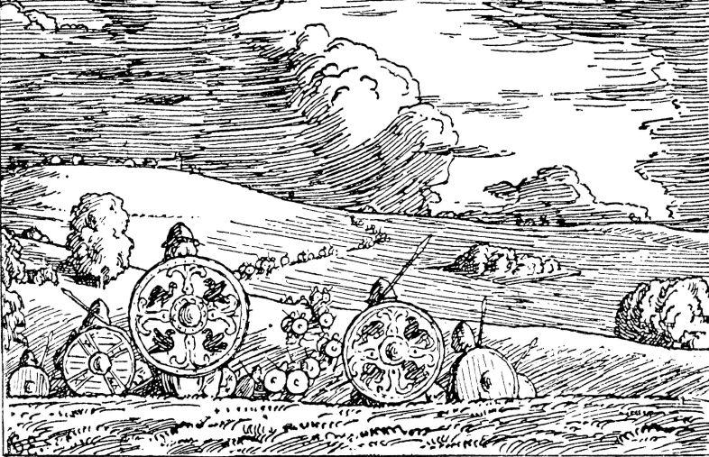 Halfdan Egedius: Illustration for Magnus den godes saga