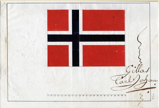 Norges flagg godkjent av Karl Johan i 1821