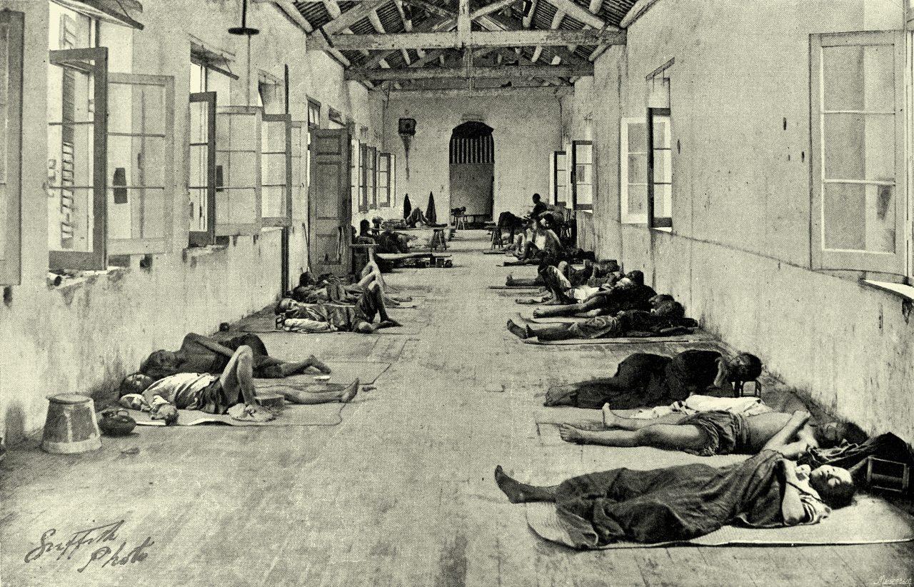 Midlertidig sykehus i Hong Kong i 1894