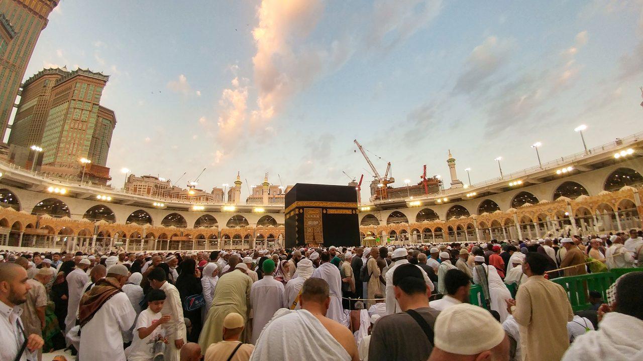 Mennesker på pilgrimsreise til Mecca