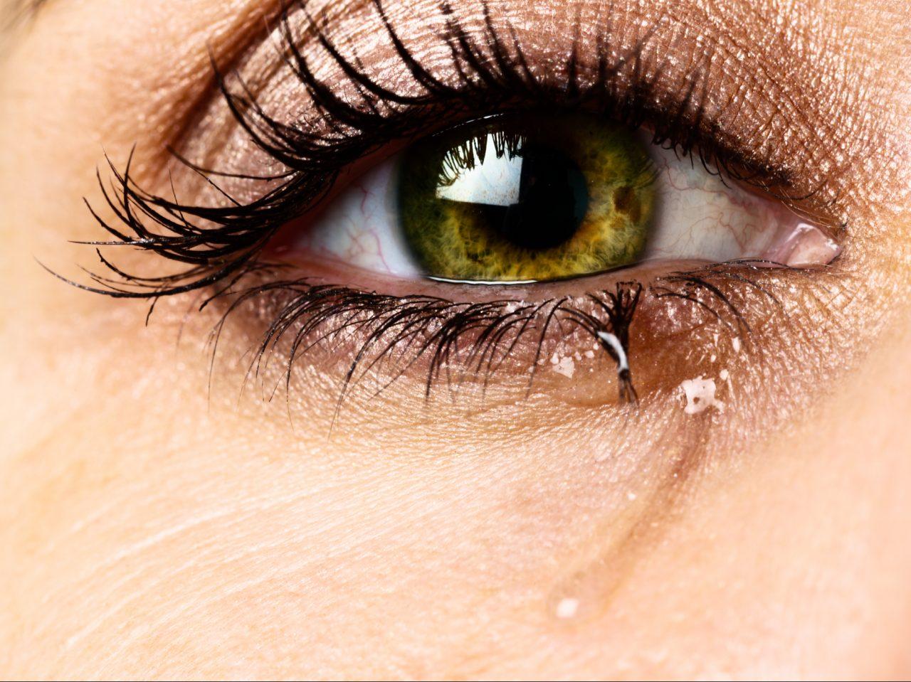 Tårevått øye