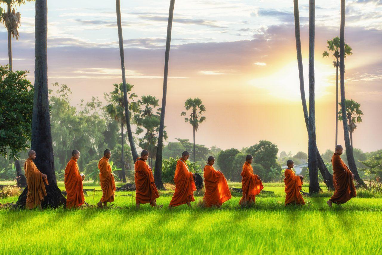 Buddhistiske munker på tur