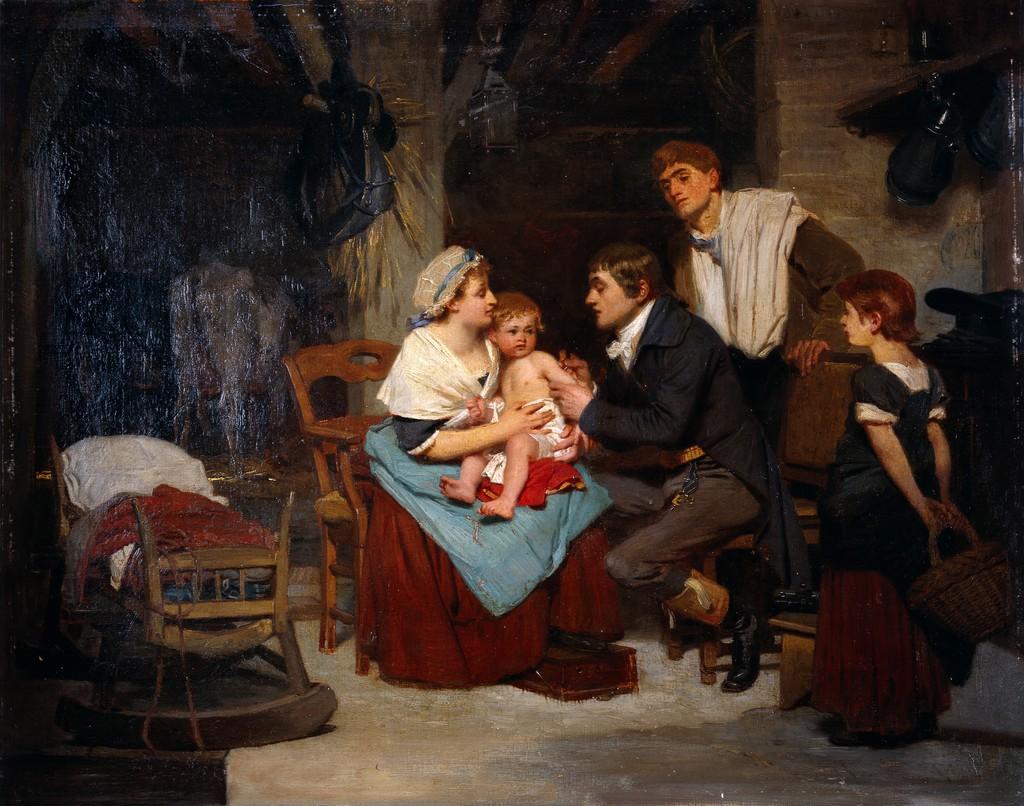 Doktor Edward Jenner setter en vaksine