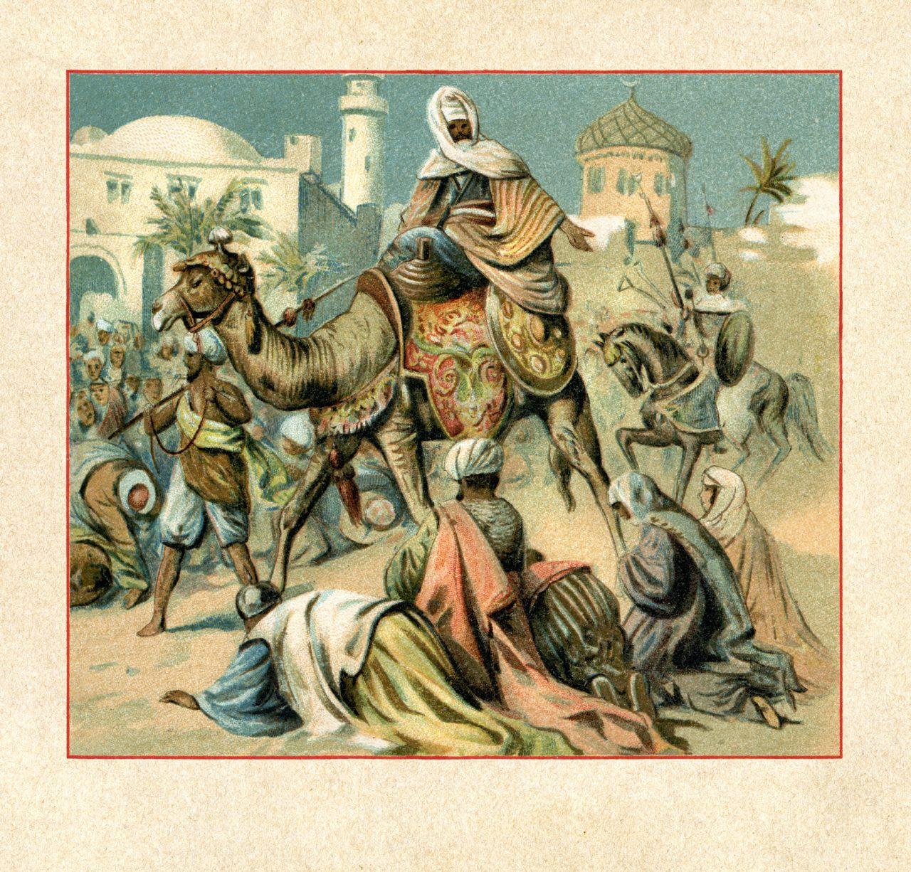 Muhammed rir inn i Mekka