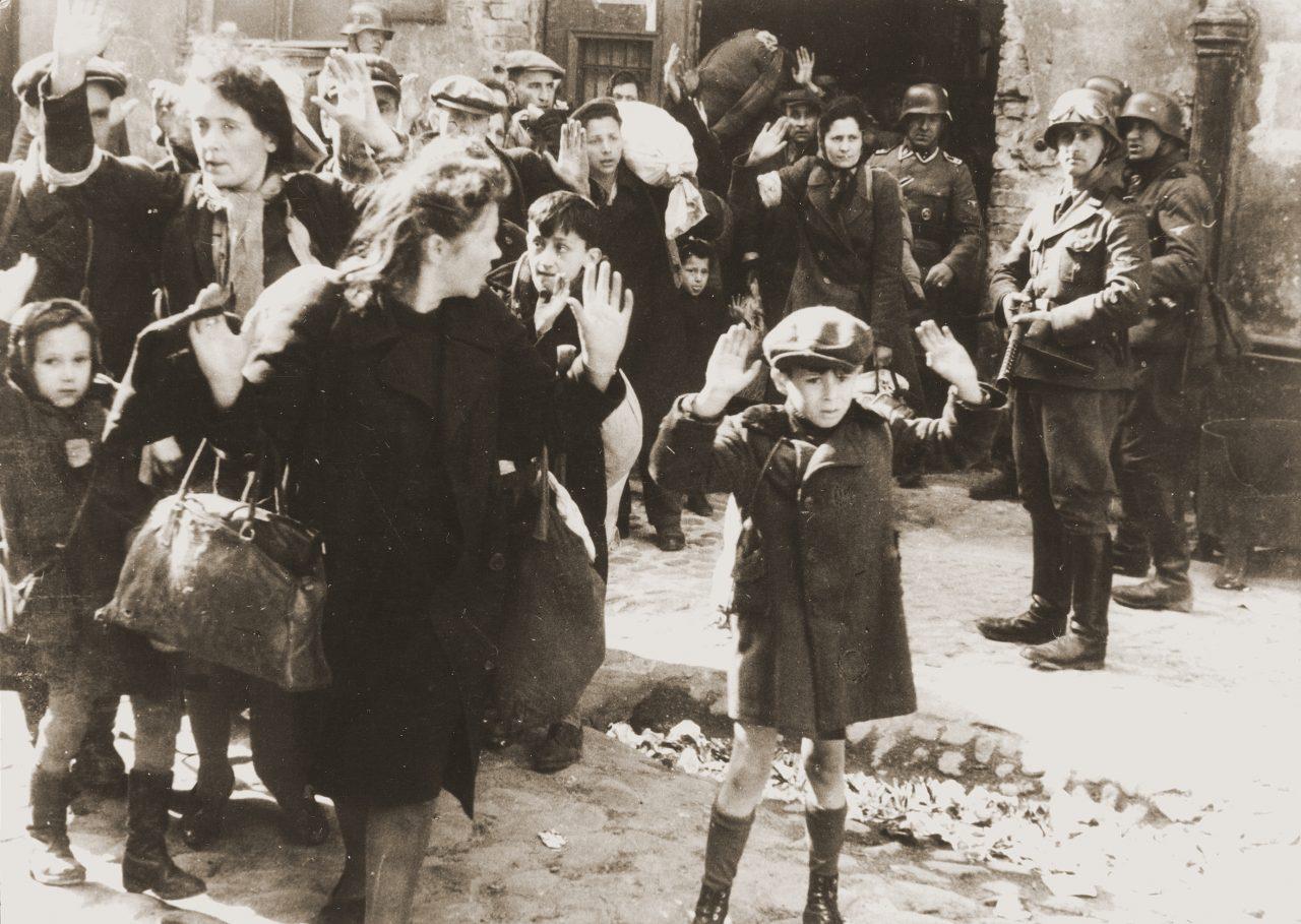 A Jewish boy surrenders in Warsaw
