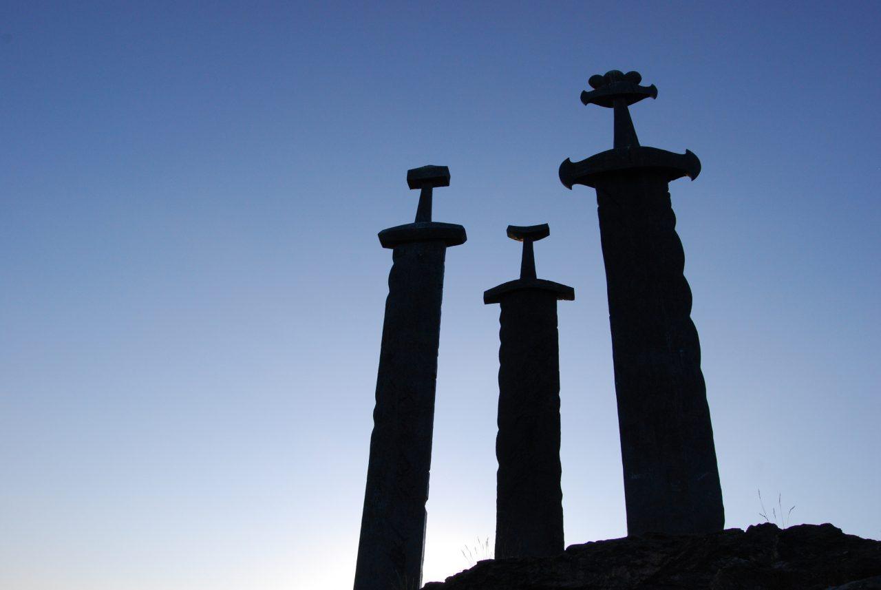 «Sverd i fjell» er et monument innerst i Hafrsfjord i Stavanger kommune. Monumentet er laget av skulptøren Fritz Røed fra Bryne. Det er tre store sverd som er satt ned i svaberget til minne om slaget i Hafrsfjord i 872.