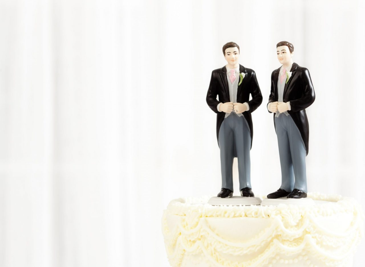 Bryllupskake i et likekjønnet ekteskap