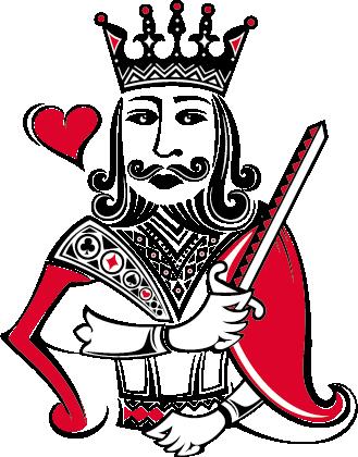 Illulstrert tradisjonell konge
