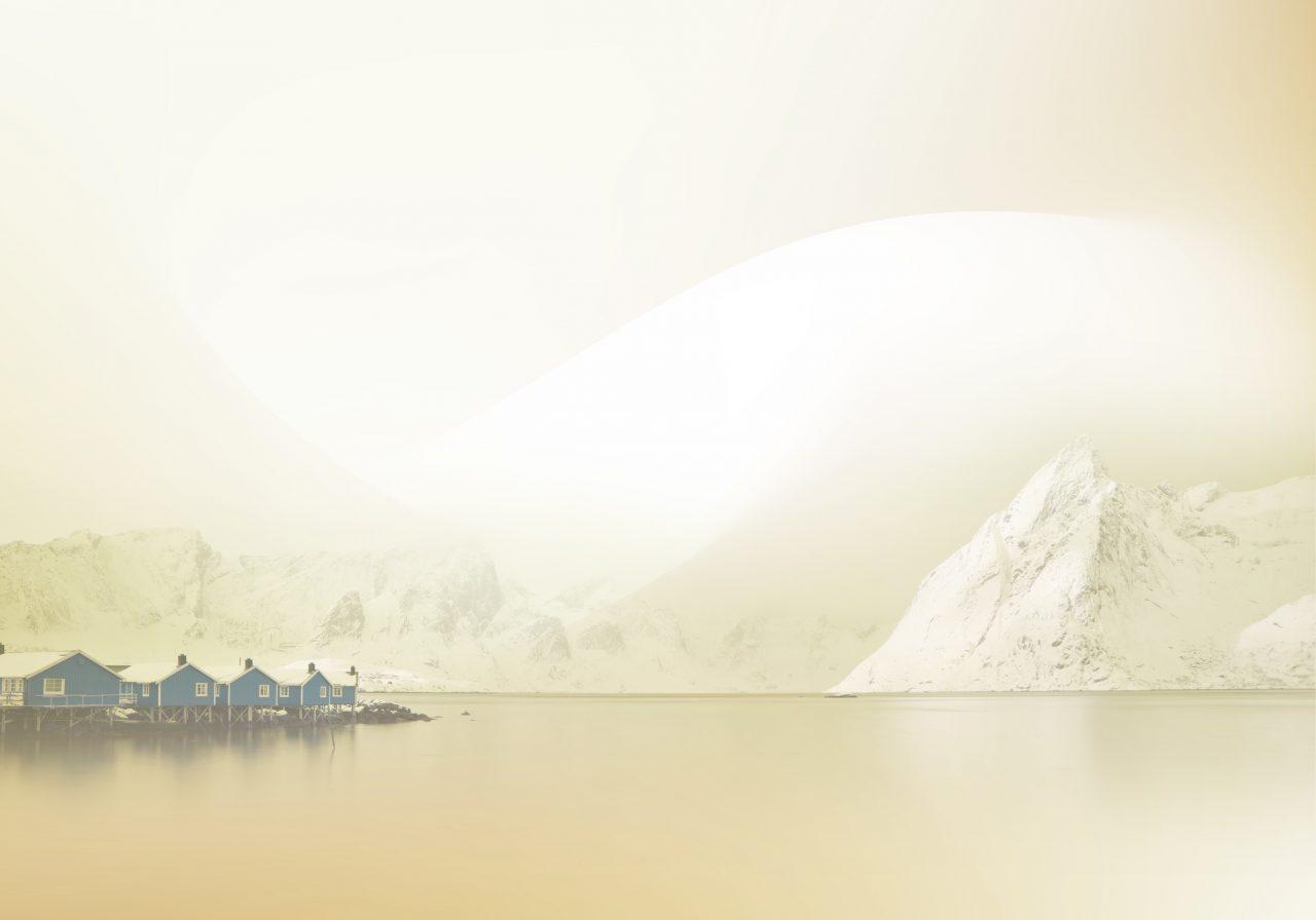 Bakgrunn med nordnorsk idyll