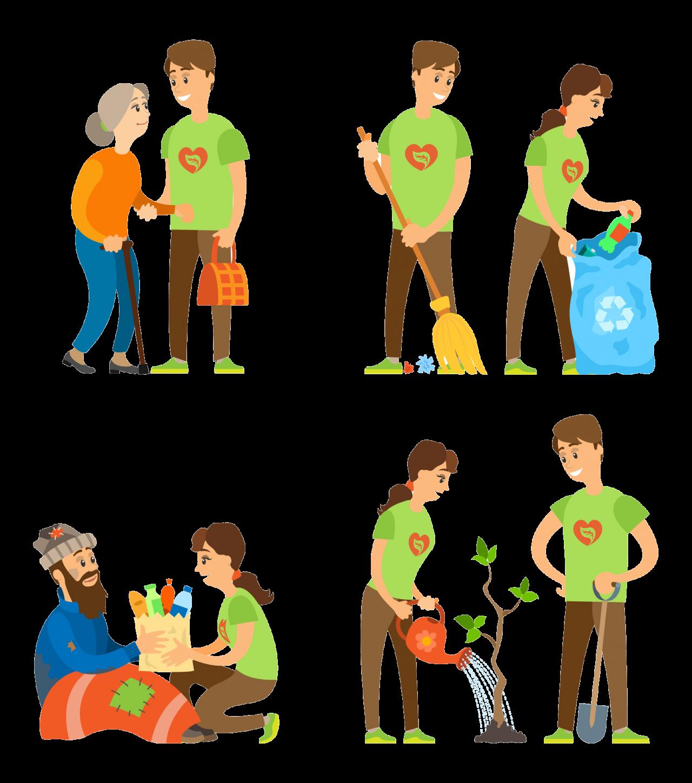 Illustrasjon av sosiale forhold