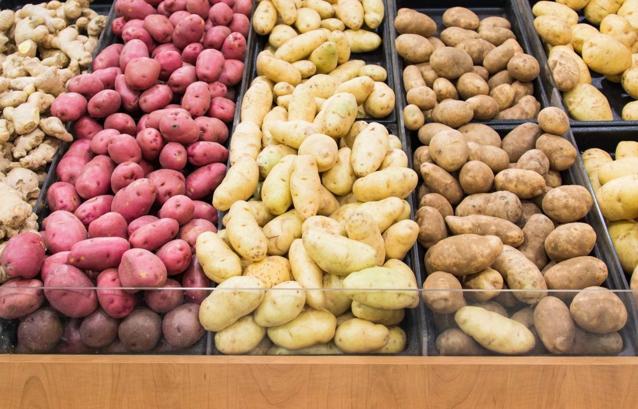 Forskjellige typer poteter