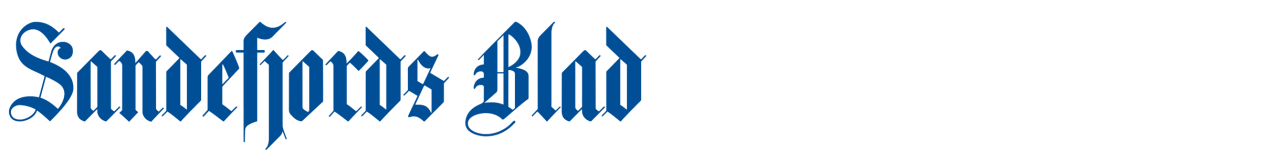 Liten, blå Sandefjords Blad-logo